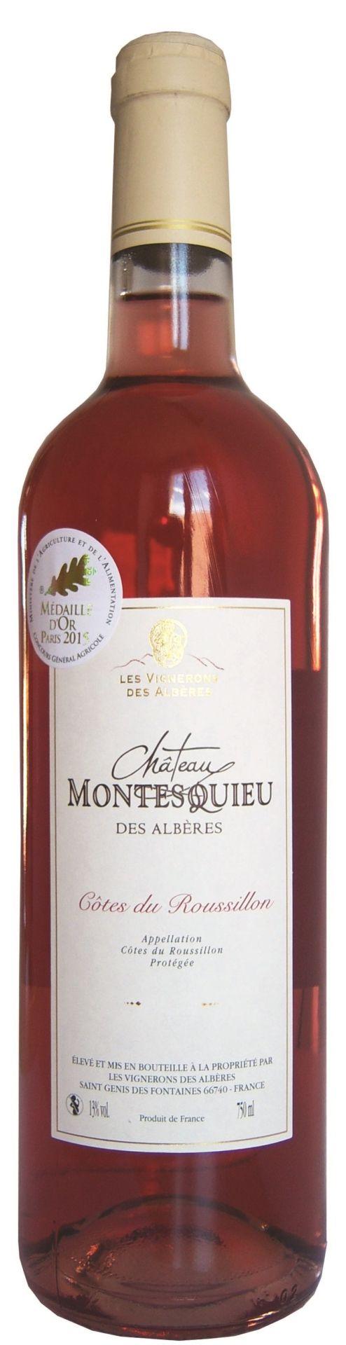 Les-Vignerons-des-Albères Montesquieu Rosé Frankrijk