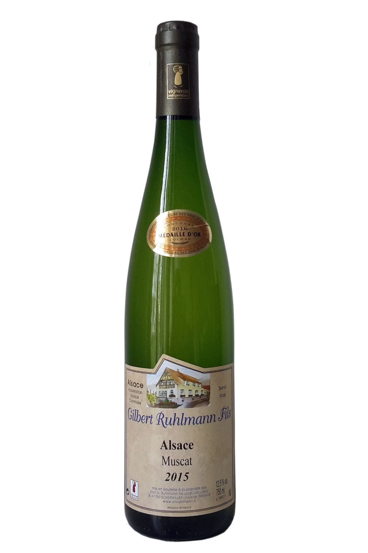 Gilbert Ruhlmann Muscat Sec Frankrijk Elzas Alsace witte wijn