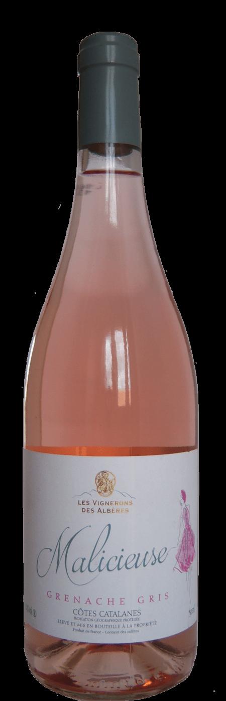 Les Vignerons des Albères Malicieuse Frankrijk rosé wijn Languedoc Roussillon Grenache Gris
