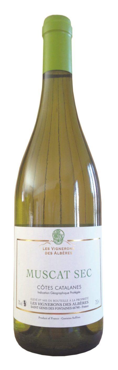 Les Vignerons des Albères Muscat Sec witte wijn muscat côtes catalanes Frankrijk