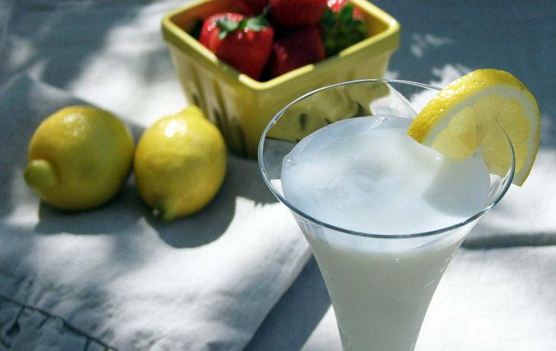 Sgroppino citroen ijs aardbei