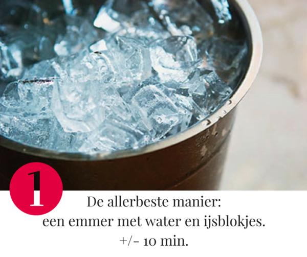 Tip 1 om wijn af te koelen