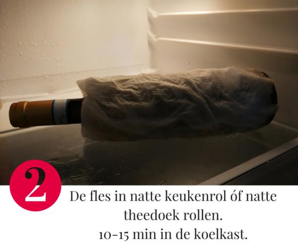 Tip 2 om wijn af te koelen