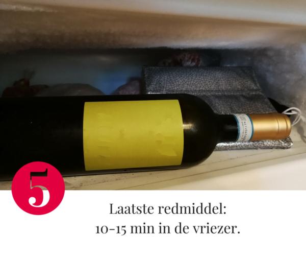 Tip 5 om wijn af te koelen