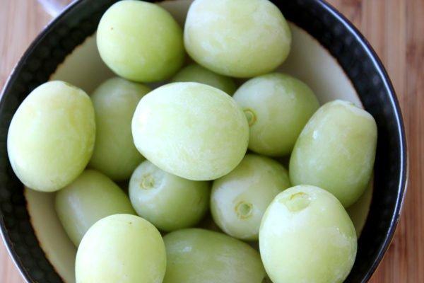 bevoren druiven in schaal
