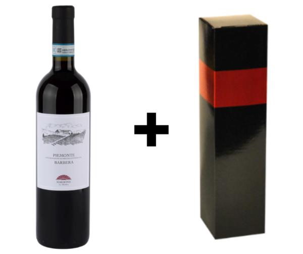 Wijndivas relatiegeschenken Barbera + verpakking