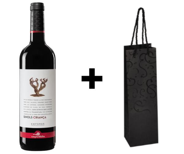 Wijndivas relatiegeschenken Sinols Crianza + verpakking